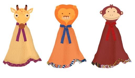 Animal Blankie Doll