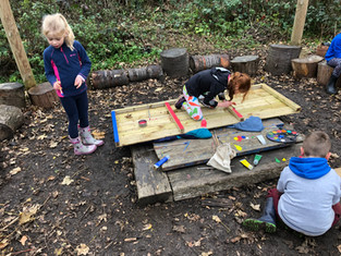 Y2 Forest School: A wolves and Zombies week!