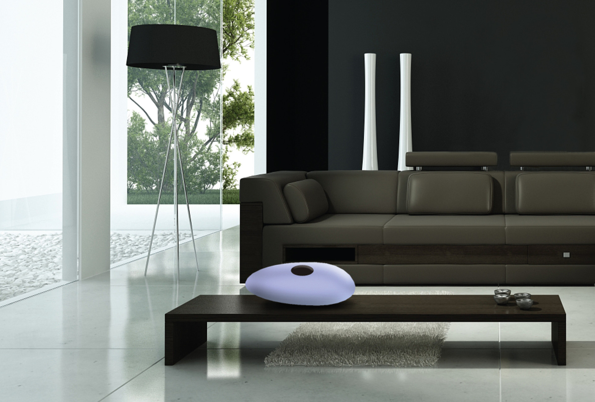 The lamp is a statement piece, which suits well in modern style interiors.