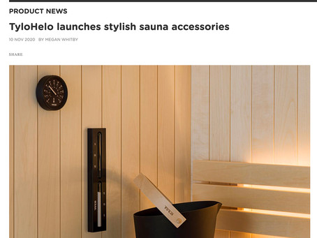 "The TylöHelo ""Brillant"" sauna set is featured in Spa Business."