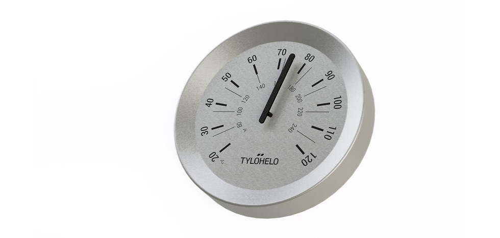 First proposal for the thermometer frame layout.