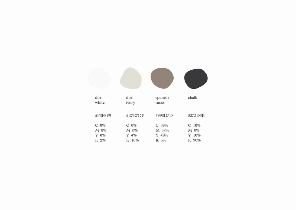 We chose our colors to resemble a modern Nordic classicism. Foremost, the neutral tones won't be predominant in the images.