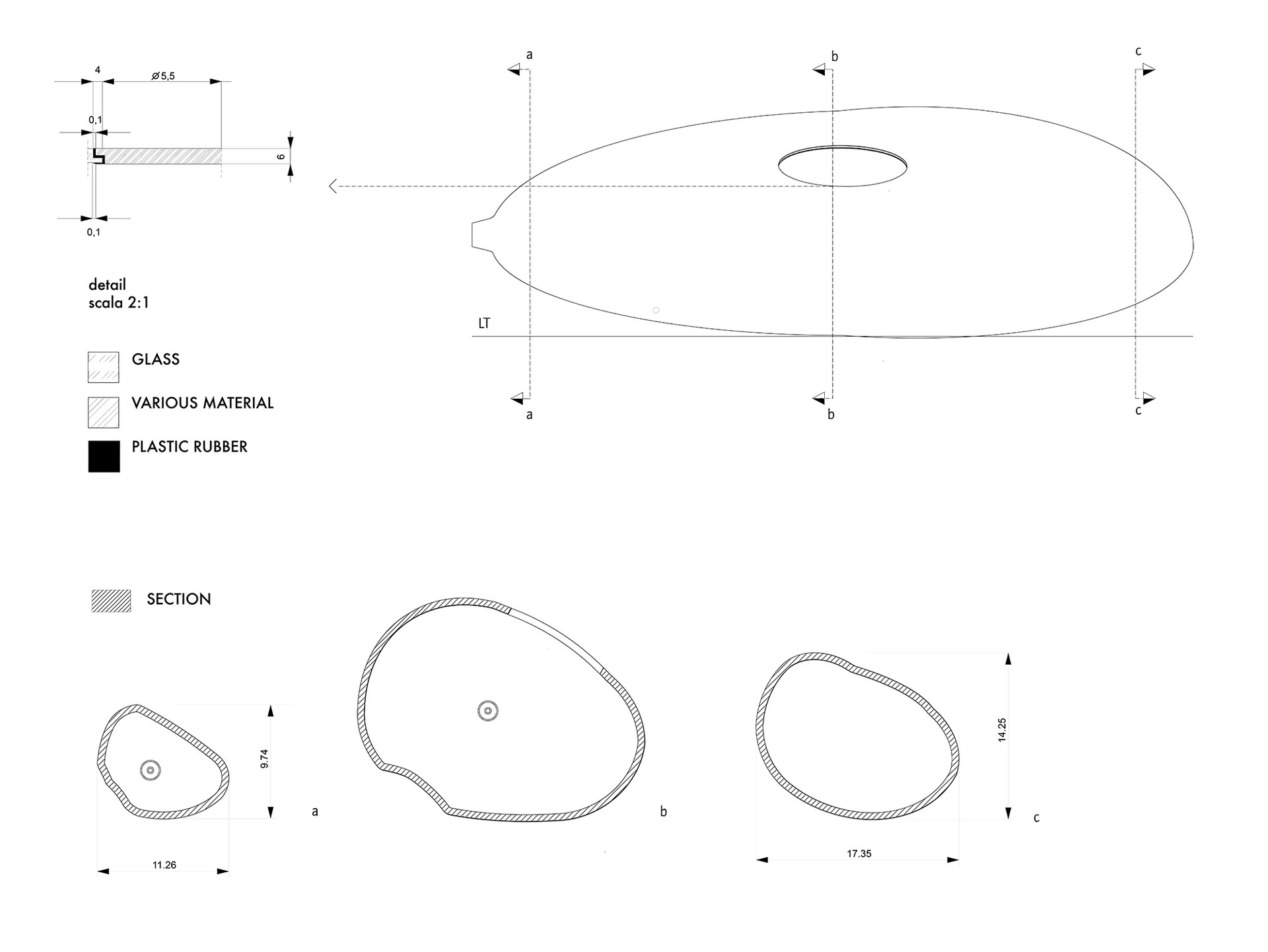 Technical drawings.