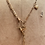 Thumbnail: Vintage 14k Gold Hummingbird, Emerald, 9ct Gold Multi Vintage Chains Necklace