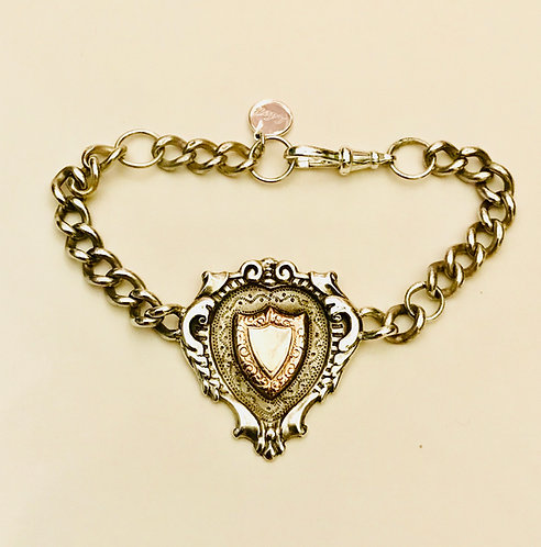 Antique Albert Fob Watch Chain Bracelet