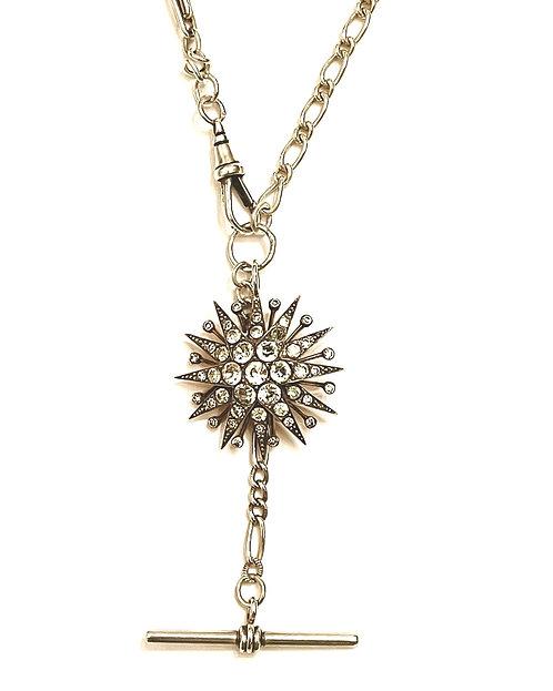 Vintage Silver Chains, Antique Silver Paste 'Starburst' Necklace