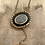 Thumbnail: Stunning Antique Onyx and Floral Intaglio Crystal Mourning Locket Guard Chain