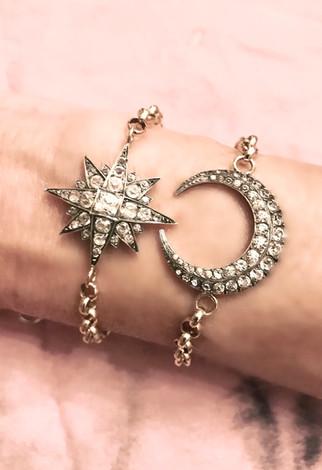 Starburst Crescent Moon Bracelet