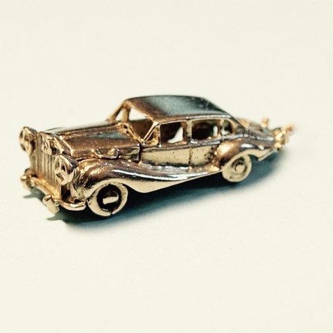 Vintage 9ct Gold 'Rolls Royce' Charm