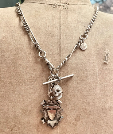 Silver Watch Chain Curios Necklace