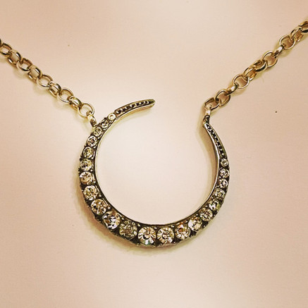 Victorian Crescent Moon Necklace
