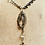 Thumbnail: Antique Silver Ornate Locket, Crystal Chain, Victorian Buckle, Skull Necklace