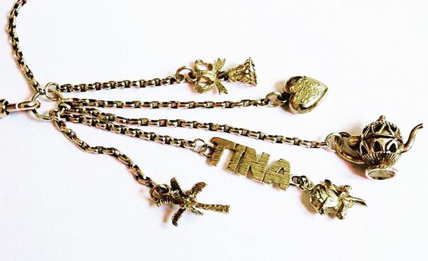 Tina Antique Chain Vintage Charm Necklac
