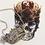Thumbnail: Vintage Silver & Diamond Paste Naval Crown Necklace