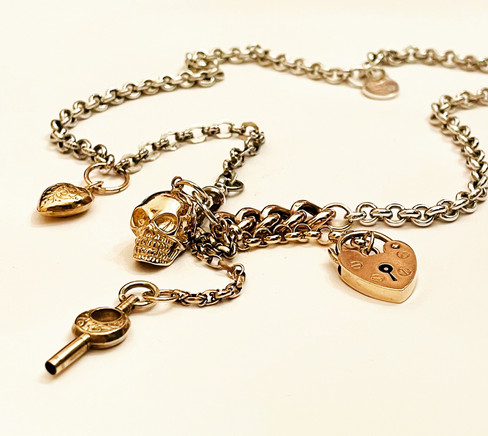 Silver & 9ct Gold Fusion Necklace