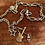 Thumbnail: Silver, 18ct & 9ct  Gold Vintage Chain Charm Guitar Skull Necklace