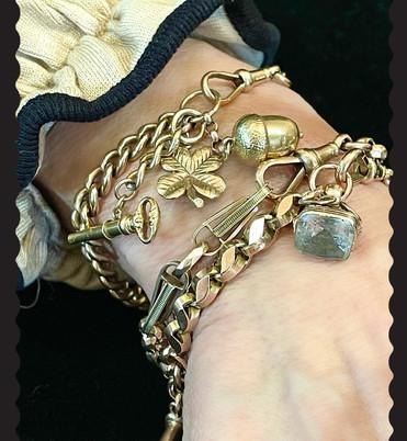 Antique Watch Chain Bracelet Stack