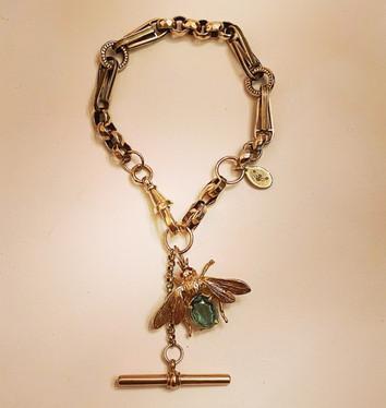 Watch Chain Blue Topaz Bee Bracelet