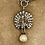 Thumbnail: Silver Antique & Vintage Chains Silver  Paste Pearl, Peacock Necklace