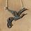 Thumbnail: Large Silver Marcasite Vintage 'Phoenix' Mythical Creature Necklace