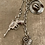 Thumbnail: Silver Vintage Chain and Charm Western Themed Long Necklace 'The Wild West''