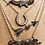 Thumbnail: Awesome Vintage Silver and Marcasite Embellished Crocodile Alligator Necklace
