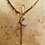 Thumbnail: Antique 9ct Gold Fancy Watch Chain Necklace with Ruby Pearl Crescent Moon