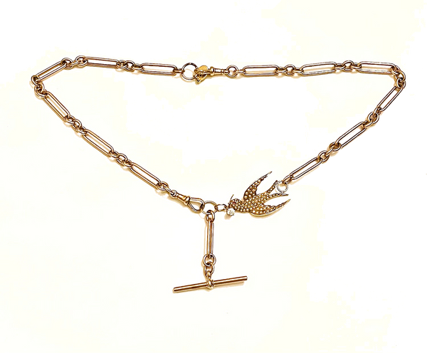 Swallow Diamond Watch Chain