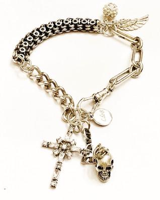 Skull Cross Bracelet