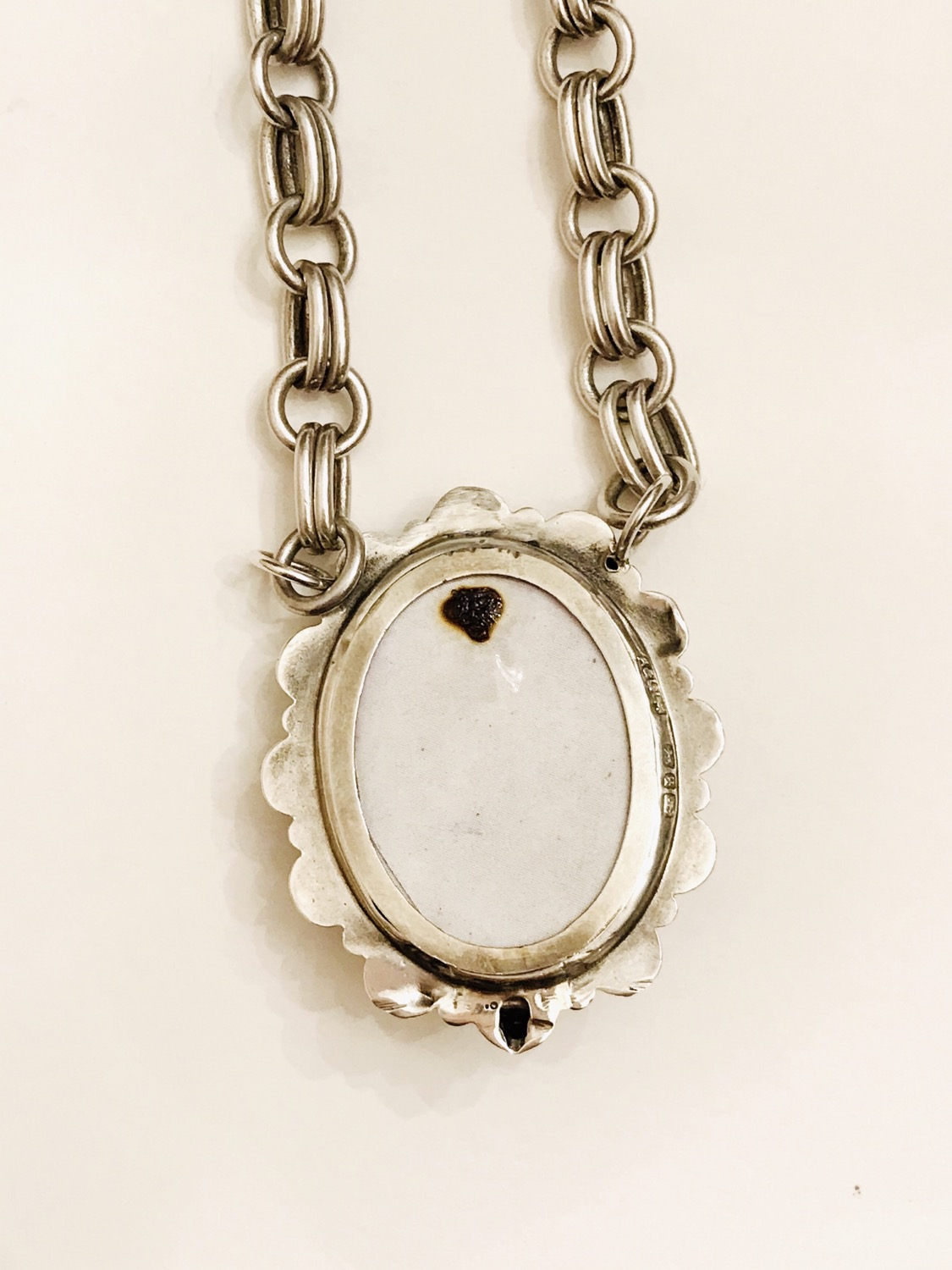 Thumbnail: Silver Victorian North Star Photo Memento Locket Necklace
