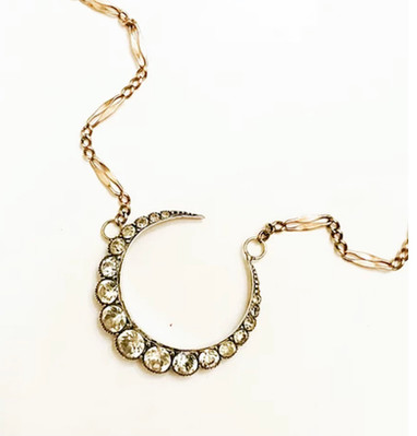 Crescent moon on gold
