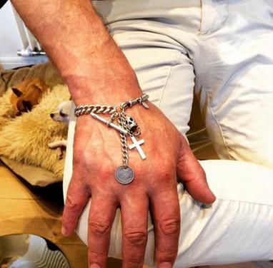 Antique and vintage charm bracelet stack for Him