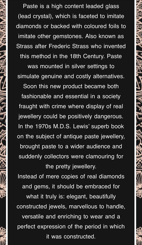 Paste Jewellery (1750s-1930s)