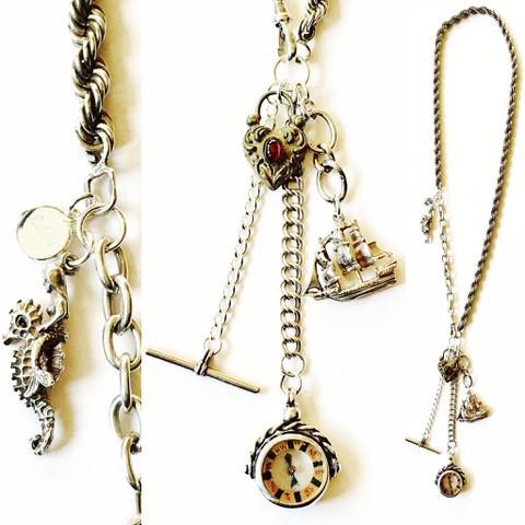 Nautical vintage charm necklace
