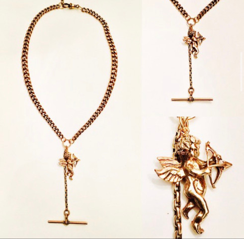 9ct Gold Watch Chain necklace