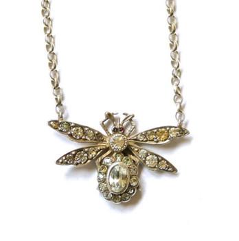 Victorian bug necklace