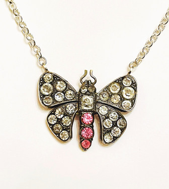 Victorian Pink Paste Butterfly