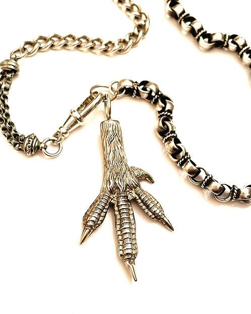 Antique/Vintage Multi Chain Victorian Charm Bird, Claw, Lucky Talisman Necklace
