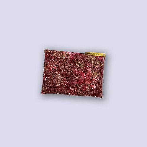Traubenkernkissen mit Blättern