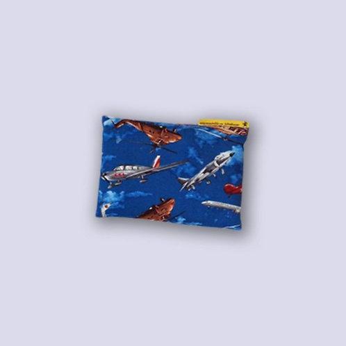Baby Traubenkernkissen mit Flugzeugen