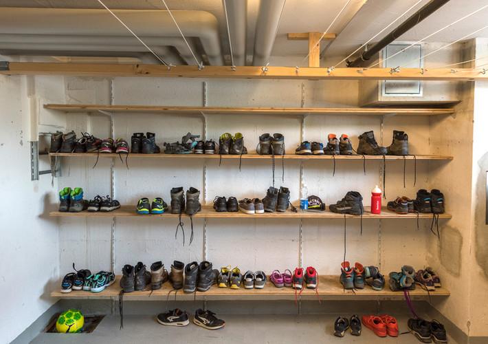 Schuh- bzw. Skischuhraum