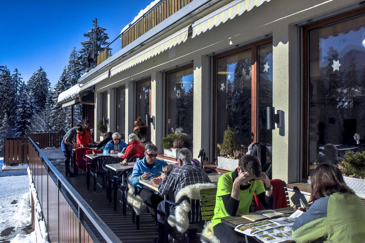 Terrasse im Winter