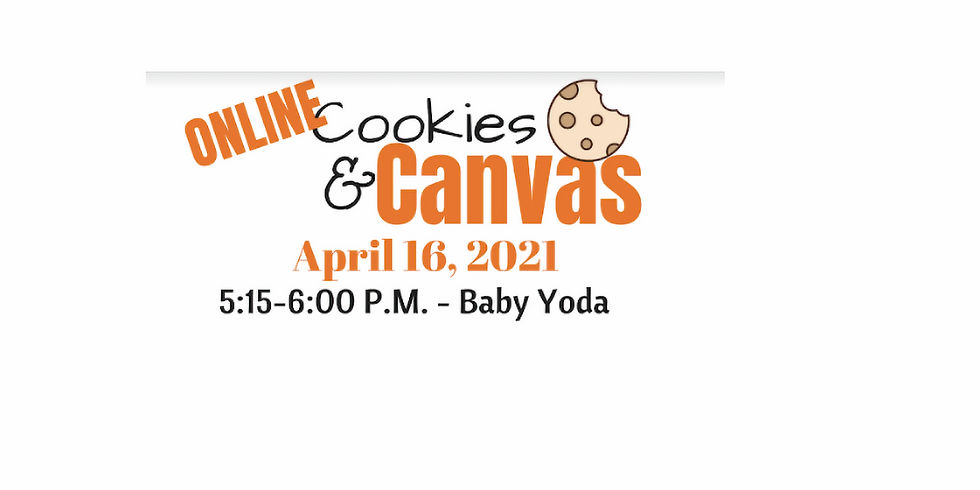 Virtual Cookies & Canvas- Session 1- Baby Yoda