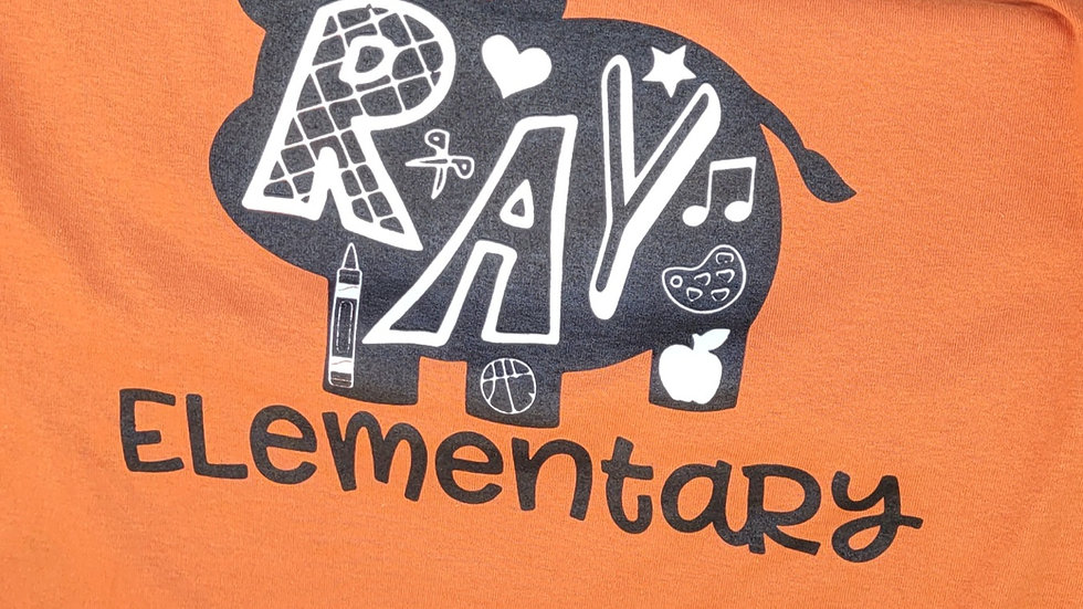 Orange Ray Hippo T-Shirt