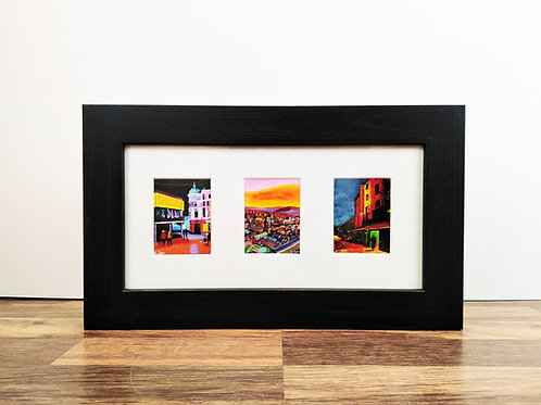 "3 aperture 12x6"" framed mini prints"