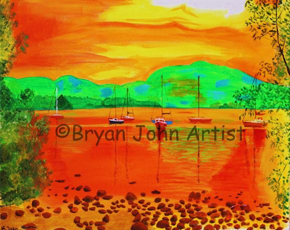 Ullswater in Orange