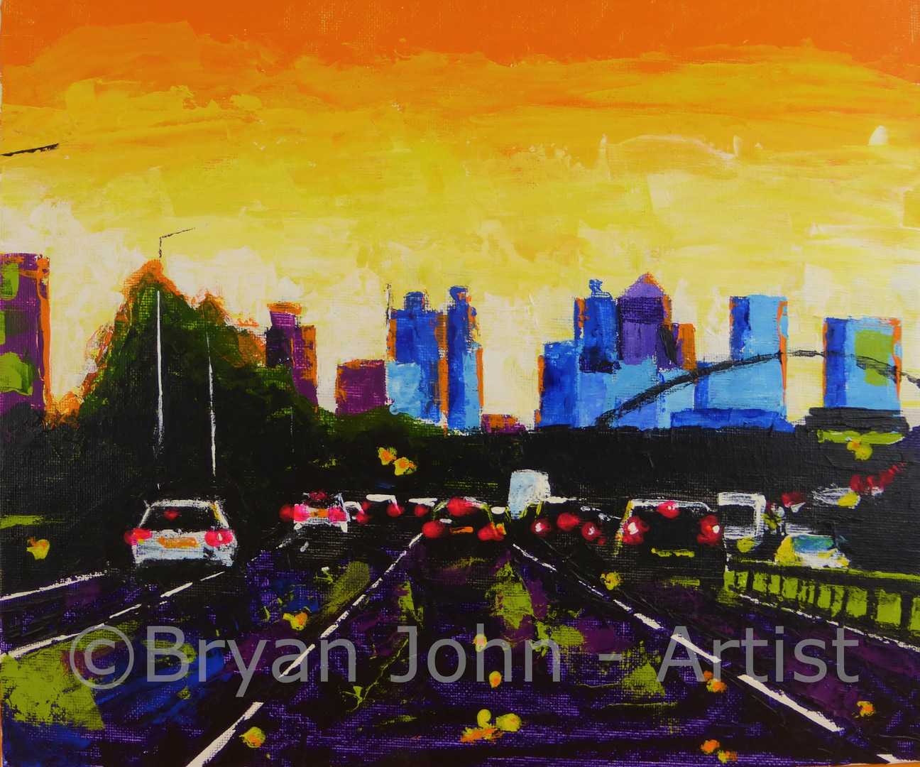 View of London from the Blackwall Tunnel Approach