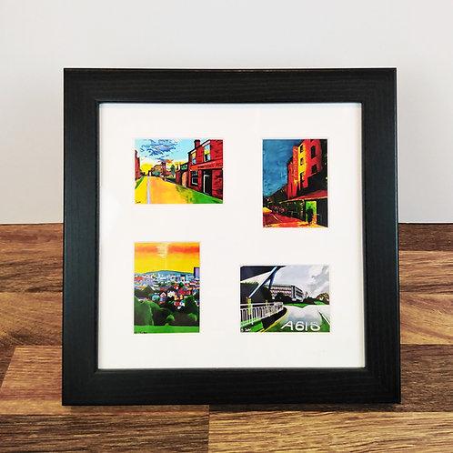 """4 aperture 9x9"""" framed mini prints"""