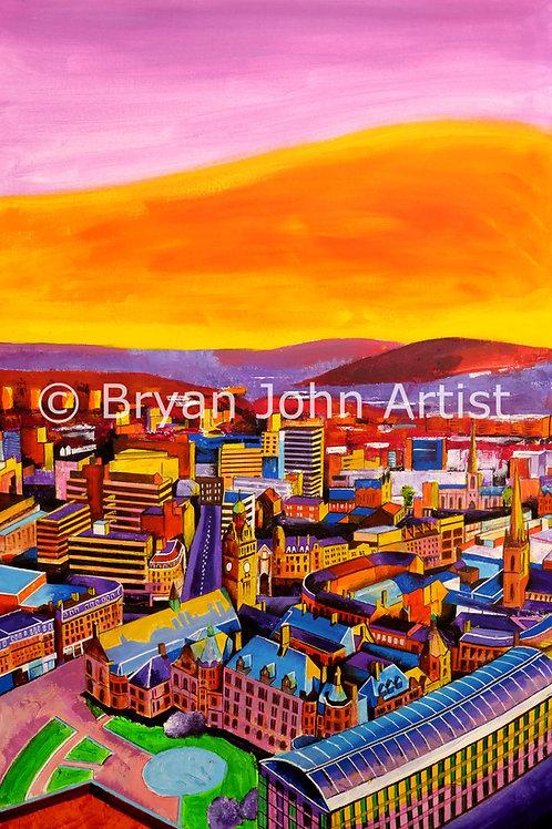Sunrise from St Paul's Lofts, Sheffield