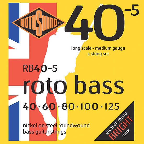 Rotosound 5-String Bass Strings Medium